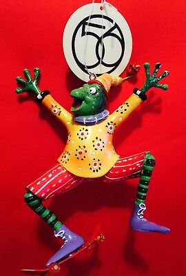 Department 56  SKATEBOARDING FROG Christmas Ornament