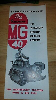 Ransomes MG40 Motor Cultivator Sales Brochure