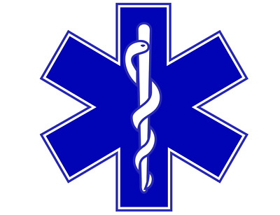 Star Of Life STICKER Ambulance Sign Paramedic St John First responder 220 mm x 1