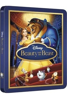 *beauty And The Beast* 3D+ Blu-Ray Embossed Steelbook Zavvi Exclusive Uk **new**