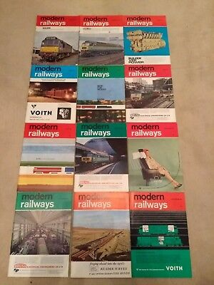 Modern Railways Magazine.(Complete year 1965)