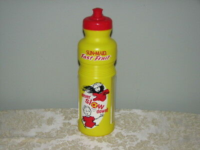 Vintage Sun-Maid Fast Fruit Drink Bottle 20 oz Removable Dish for Fruit New USA