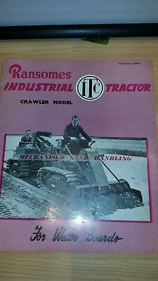 Ransomes MG ITCMotor Cultivator Crawler Sales Brochure