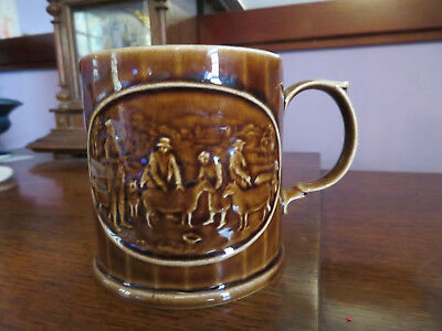 Holkham Pottery First sheep shearing Commemorative mug tankard