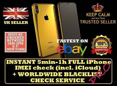 BEST INSTANT FAST iPhone iPad IMEI CHECK NETWORK CARRIER ICLOUD BLACKLIST PRO