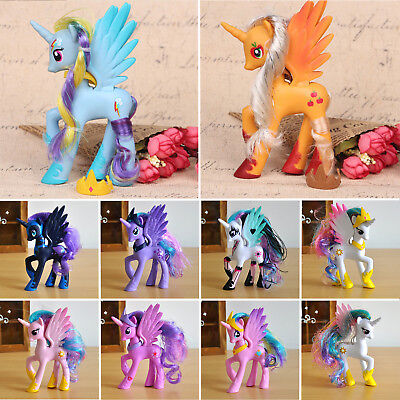 My Little Pony Princess Luna Celes Doll Rainbow Dush Figure Toy F Kids Bady Gift