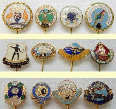 12 Old Pins...mixed  'bowling Clubs'