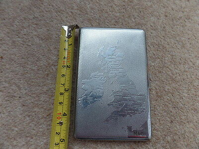 Vintage ENGLAND  Cigarrette Case  13cm x 8.5cm. used Condition.