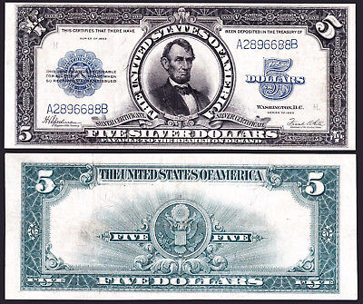 1923 $5 Silver Certificate LINCOLN PORTHOLE Fr. 282 *SCARCE NOTE* #10314