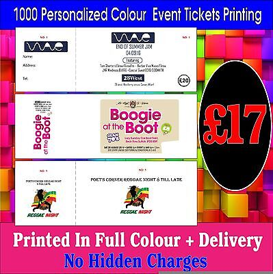 1000 personalized colour any event tickets printing cheapest in