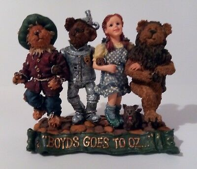 """Boyds Bears & Friends  """"DOROTHY & COMPANY...OFF TO SEE THE WIZARD""""  (2000)"""
