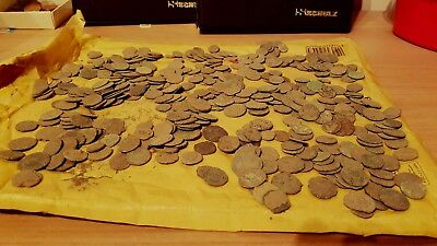 Lot of 20 ancient late Roman coins, uncleaned