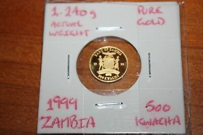 Zambia 1999 50 kwacha - 1/25 ounce pure gold coin