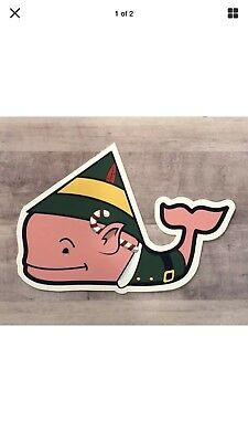 Vineyard Vines CHRISTMAS sticker decal ELF Limited edition Rare & hard to find!
