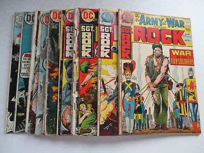 Lot Of 15 Dc Our Army At War Sgt Rock #243,244,251-259,261-264