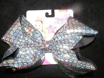 Jojo Siwa Signature Large silver/black MERMAID Bow -  GREAT FOR STOCKINGS NWT'S