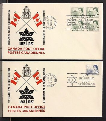 2, Canada 1967 Queen Elizabeth Replacement FDC Cover . With Content .