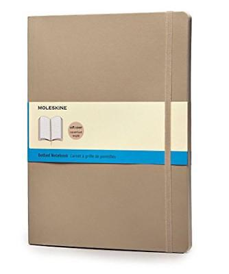 (TG. X-Large) Moleskine Classic Colored Notebook, Extra Large, Dotted, Khaki Bei