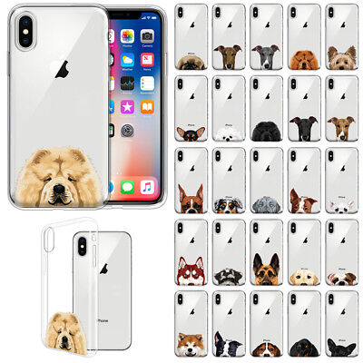 For Apple iPhone X / XS 5.8 inch Slim Dog Design TPU Clear Silicone Case Cover