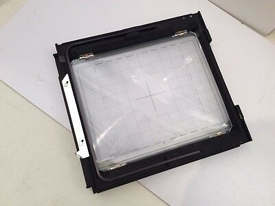 Genuine Sinar P 8x10 Rear Ground Glass and Frame with Fresnel / Excellent