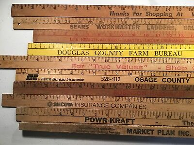 Advertising Yard Sticks from across the Midwest