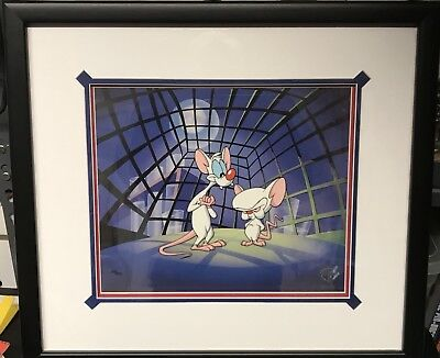 Framed Animaniacs PINKY AND THE BRAIN limited edition cel w/ COA Warner Bros