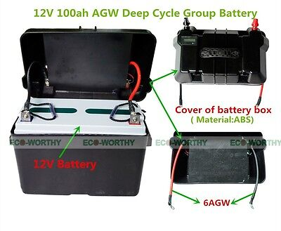 12V 100Ah AGM SLA Deep Cycle Group Battery With Battery Case for Off Grid