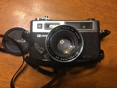 Vintage GYashica Electro 35 GSN 45mm Lens Camera with Lens cap , UNTESTED