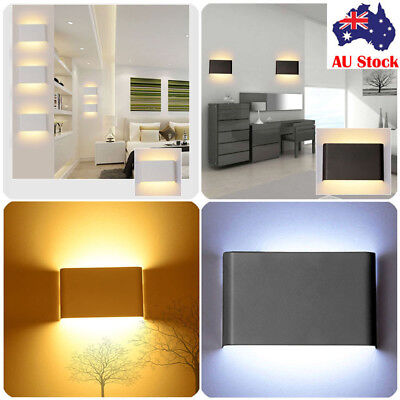 Modern 5/14W LED Wall Light Up Down Sconce Indoor Outdoor Exterior Fixture Lamp