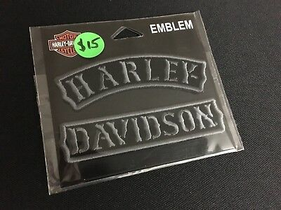 Harley Davidson Rocker Patches Black