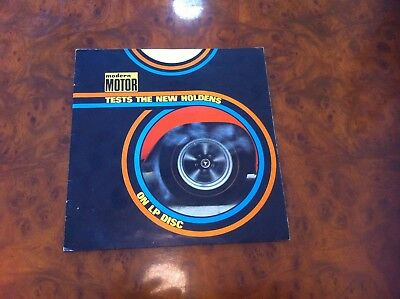 HOLDEN GMH Modern Motor Tests Record Sleeve Vintage GENUINE Advertising