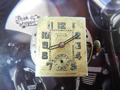TUDOR 59 Movement Hands and Dial Rectangular Vintage 1940's