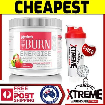 Maxine's Burn Xt Energise Kiwi Strawberry 30 Srv // Thermogenic Fat Burner