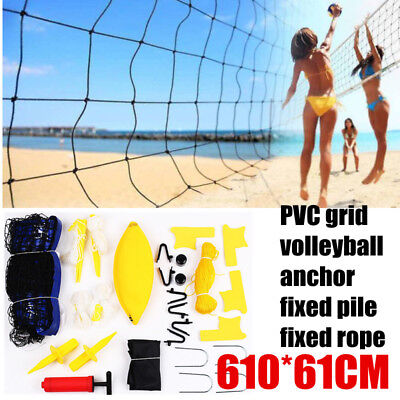 Bvolleyball Beach Volleyball Set Kit Lines + Net + Ball+Pump+Bag