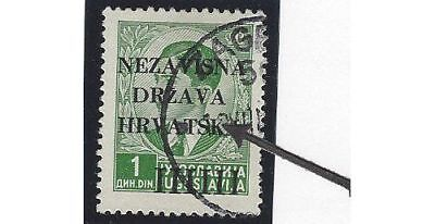 """Croatia. 1941 (12 April). 1st Provisional Issue. INCOMPLETE """"K""""."""