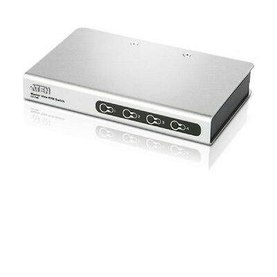 Aten 4 Port Slimline PS/2 KVM Switch with Cables - CS-74E