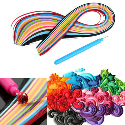 160 Stripes 3x390mm Mixed Color Quilling Paper with Pen DIY Crafts Origami Tool