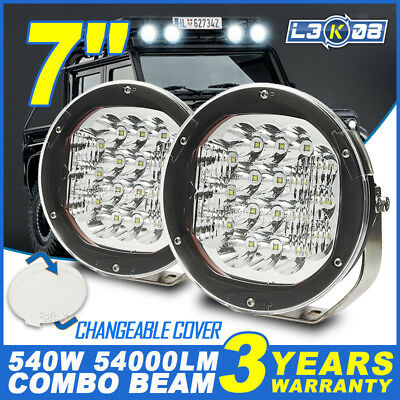 2x 7INCH 540W CREE LED Work Light Driving Headlight Spot Lamp Offroad Truck 5/9""