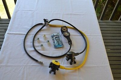 Tusa Scuba Diving Regulator EN250 1st & 2nd Stages with Pressure & Depth Guage