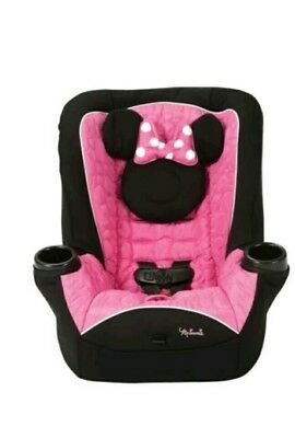 Disney Minnie Mouse Infant Toddler Baby Convertible Grow With Me Car Seat Girls