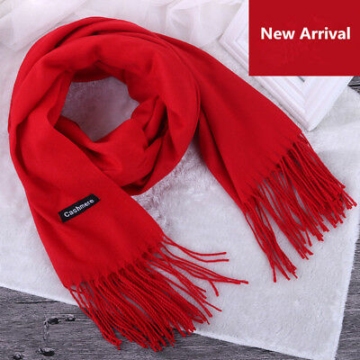 Cashmere Scarf Women Man Winter Classic Tassels Warm Shawl Wrap Multiple color