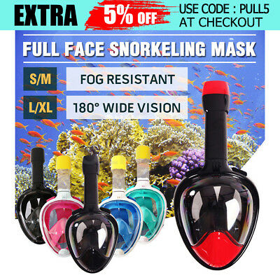 Anti-Fog Full Face Snorkeling Snorkel Mask Diving Goggles Easy Breath For GoPro