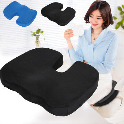 Home Office Chair Memory Foam Coccyx Orthoped Seat Pad Support Lumbar Cushion