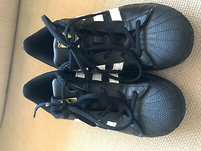 Black Superstar Shoes Kids Size US 3