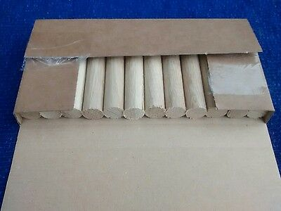 Oak wooden dowel x12pcs 18mm x 100mm,  dowelling, rod  1.2 meters