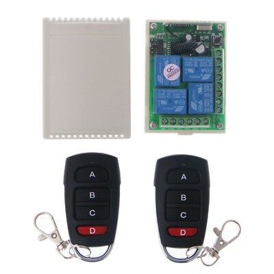 24V 4CH Wireless RF Remote Control Switch Receiver Module + 2 Transmitter Relay