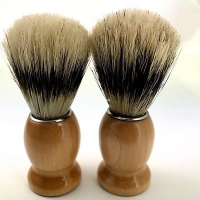 DEFECT! 2x Bristal Vintage Hair Men's Wet Shaving Brush For Men Shave