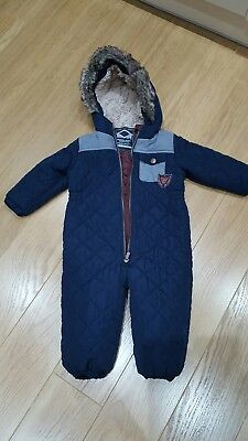 Boys Next navy all-in-one snow suit. Age 18-24 months