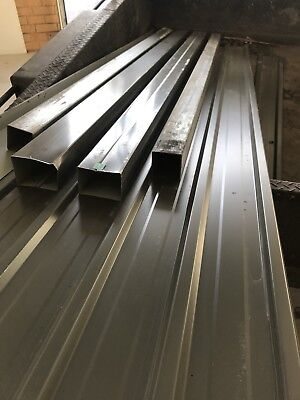 roofing iron X 16 Sheets , Flashing X 4 Guttering X 2 Steel Tube X 2 Sheds