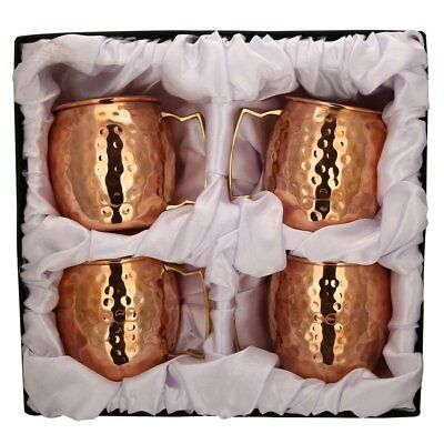 *Premium Quality* Gift box of Hammered Moscow Mule Copper Beer Mug Set of 4